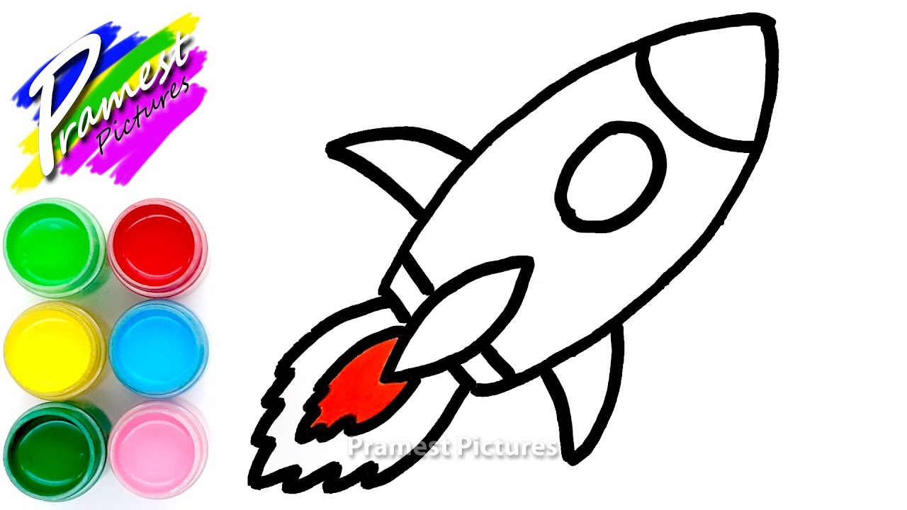 Toy Rocket Coloring And Drawing For Kids