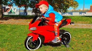 Baby Biker Max 2 Year Old ride on Sportbike Assembling Power Wheels Superbike and Pretend Play
