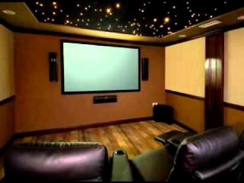Diy home theater room decor ideas youtube Home theatre room design ideas in india