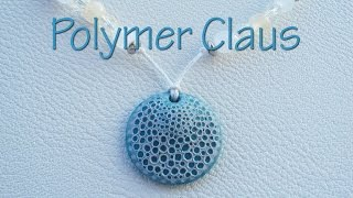 Sea sponge effect pendant (english sub - polymer clay pendant tutorial)
