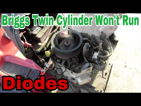 Troubleshooting: Briggs Twin Cylinder Engine Won't Run (Diodes) With Taryl