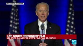 REPLAY - Premier discours de Joe Biden, élu 46e président des États-Unis