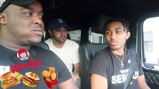 WENDYS MUKBANG W/ DDG * the real reason i flew james out *