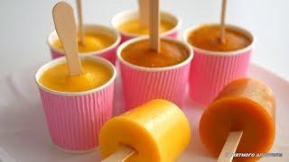 Фруктовый лёд и замороженный йогурт с персиками. Низкокалорийные десерты