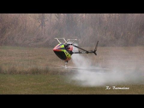 Вертолёты на радиоуправлении Old school Heli-fest Nitro challenge