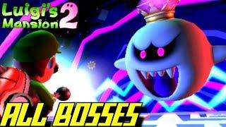 Luigi's Mansion 2: Dark Moon - ALL Bosses (No Damage/3 Stars Ranking)