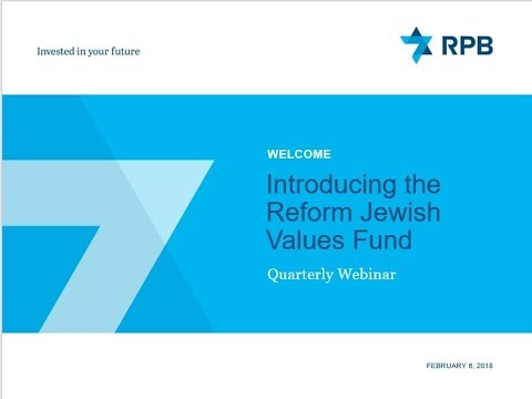 Introducing the Reform Jewish Values Fund