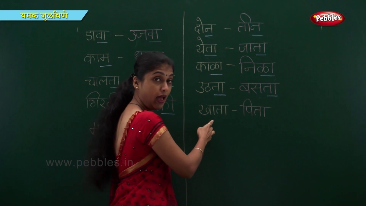 Rhyming Words in Marathi | Learn Marathi For Kids | Marathi Grammar |  Marathi For Beginners