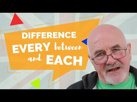 Difference between EVERY and EACH - Helpful Tips to Improve English
