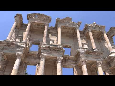 Celsus Library at Ephesus-Biblioteca lui Celsus din Efes(video HD)