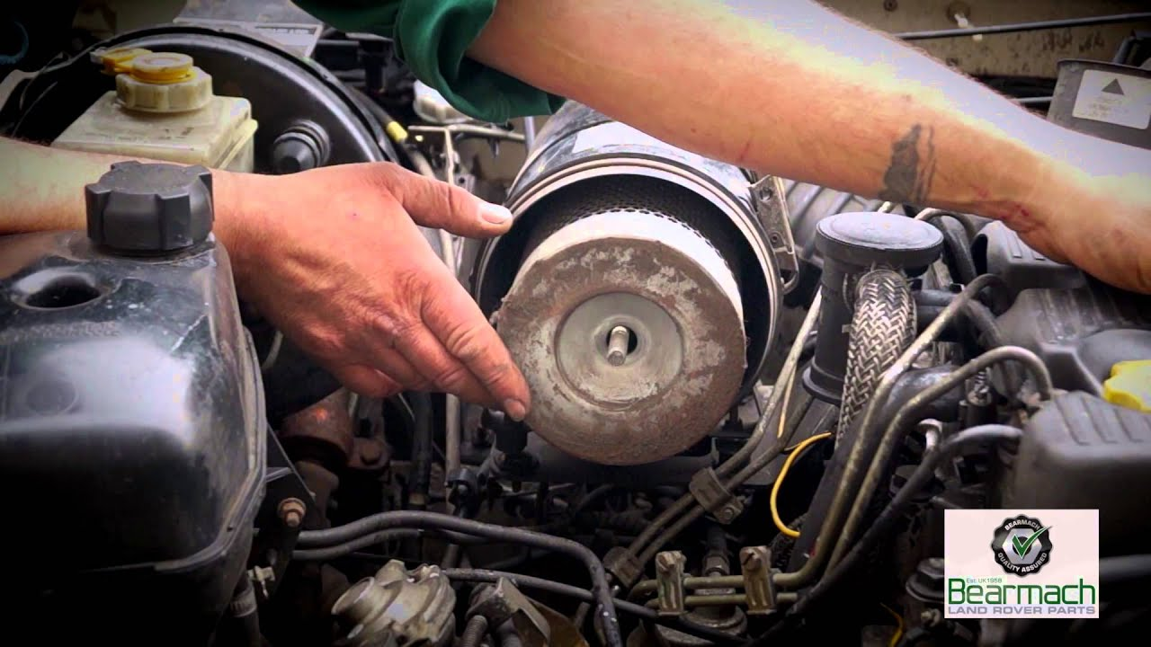 Replacing a standard air filter The Fine Art of Land Rover