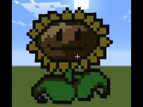 Minecraft Plants Vs Zombies Pixel Art 마인크래프트 식물 Vs 좀비 픽셀아트