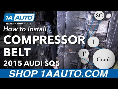 How to Replace Supercharger Compressor Belt 14-19 Audi SQ5