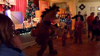Florida, Magic Kingdom, Mickeys Christmas Party, Toy Story, Bullseye Dancing, All The Single Ladies