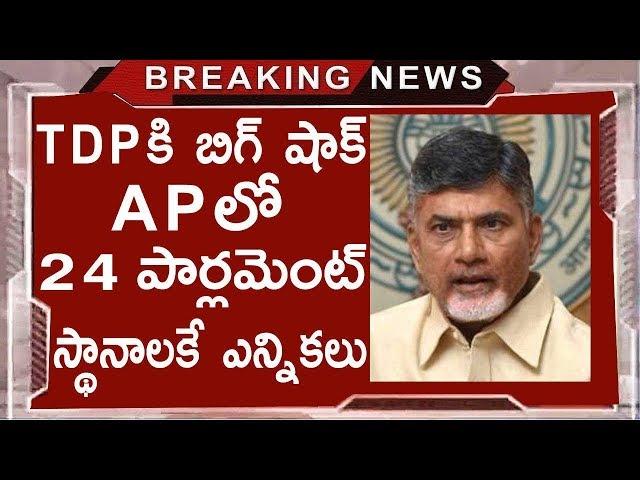 Big Shock To TDP   Elections To 24 Mp Seats In AP   Chandrababu Naidu   AP Politics