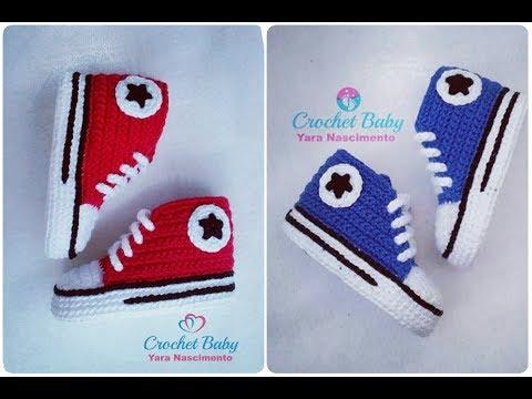 All Star Cano Longo em crochê -Crochet Baby Yara Nascimento