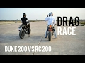 KTM RC200 Vs Duke 200   Drag race