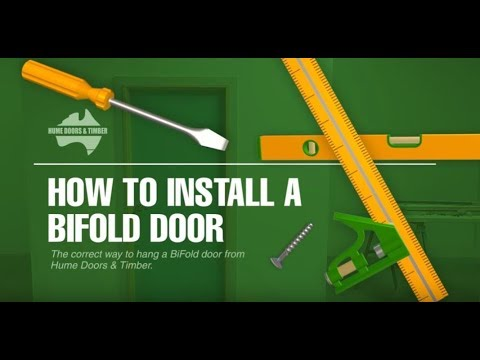 How to install a bifold door - YouTube How To Install Bat Door on blinds door, welcome door, privacy door, driver door,