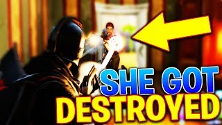 She Didn't Stand A Chance! Fortnite Battle Royale