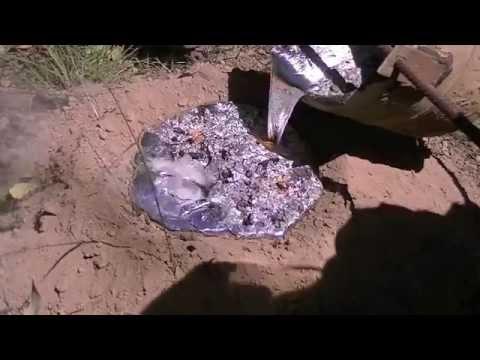 52 kg (114 lb) Aluminium Casting of a Giant Brown Bull Ant Nest - Myrmecia brevinoda - 2015/03/07