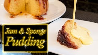 Jam & Sponge pudding