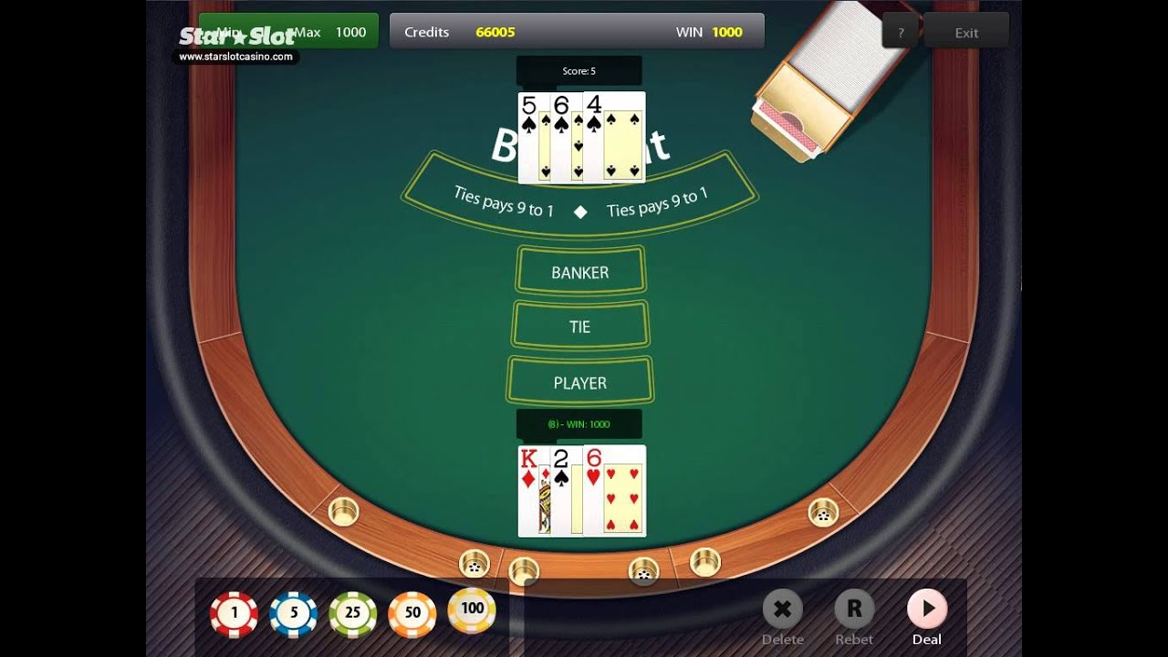 Baccarat game play frigo geant casino gap