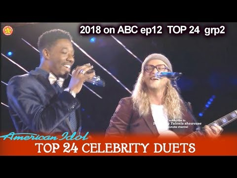 "Marcio Donaldson and Allen Stone Duet "" What's Going On""  Top 24 Celebrity Duets American Idol 2018"