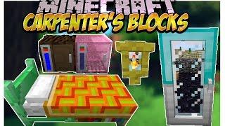 Carpenter's Blocks Mod (Decora antorchas,camas,escaleras y mas!) Minecraft 1.7.10/1.7.2/1.6.4