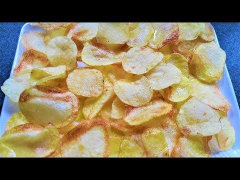 PATATES CİPSİ TARİFİ ve CİPS SOSU -Potato Chips Recipe - Bizim Terek