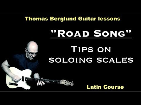 "Road Song ""Octave playing and soloing scales"" / Jazz Guitar lesson"