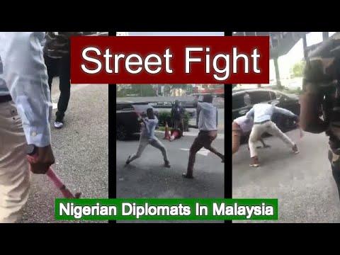 Nigerian Diplomats Street Fighting In Malaysia?