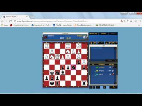 flyordie play chess 1 minuto ganhando de elo 265 no flyordie xadrez