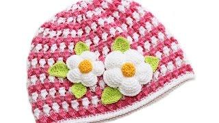 ШАПОЧКА КРЮЧКОМ. Часть 2(В этом видео показано, как связать шапочку для девочки Видео по вязанию цветка и листика: http://youtu.be/TTag4zDA-wc..., 2015-01-03T15:55:17.000Z)
