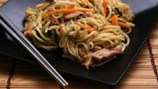 How to make Chinese Chicken Stir Fry Noodles - Chow Mein