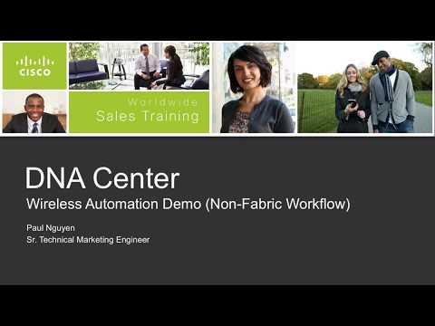 DNA Center Automation for Non-Fabric Wireless Workflow