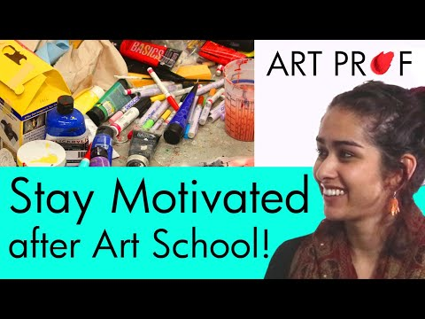 Tips & Advice for How to Stay Motivated as a Visual Artist