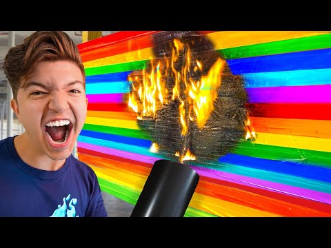 ULTIMATE 100 Layers Of Rainbow Duct Tape Challenge!