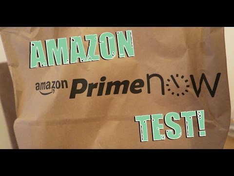 AMAZON PRIME NOW - DELIVERY TEST - IPHONE APP