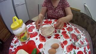 """Салат """"Морская Свежесть"""". С кальмарами. Не обычный вкус! Salad with calamari, cucumber and eggs!"""