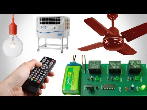 3 Channel Remote Control For Home Appliances || Control Fan And Light Using TV DVD Remote ||
