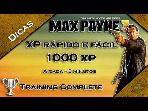 Max Payne 3 XP rápido e fácil | Training Complete Trophy