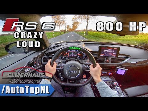 780HP AUDI RS6 Elmerhaus | LED STEERING WHEEL & INSANE EXHAUST | POV Test Drive by AutoTopNL