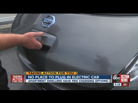 Local apartment dwellers have few charging options for electric cars