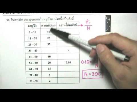 เฉลยข้อสอบO-NETปี54สถิติข้อ39