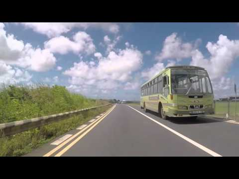 Ile Maurice Route vers Mahébourg, Gopro / Mauritius Road to Mahebourg
