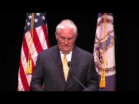 U.S. Secretary of State Rex Tillerson remarks on the United States' relationship with Africa