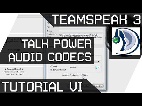 Teamspeak Tutorial 6 [Talk Power/ Audio Codecs] Deutsch [GER HD]
