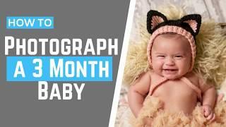 3 MONTH Baby Photos Milestone Photoshoot