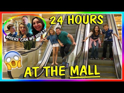 24 HOURS AT THE MALL | OVERNIGHT CHALLENGE | We Are The Davises