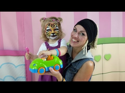 Видео для детей: АКВАГРИМ - Как наносить. Рисунки на лице: Тигренок! Развлечения для детей
